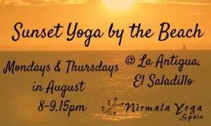 Sunset Yoga Mon & Thur cropped