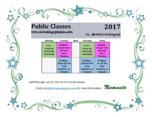 Weekly Timetable April
