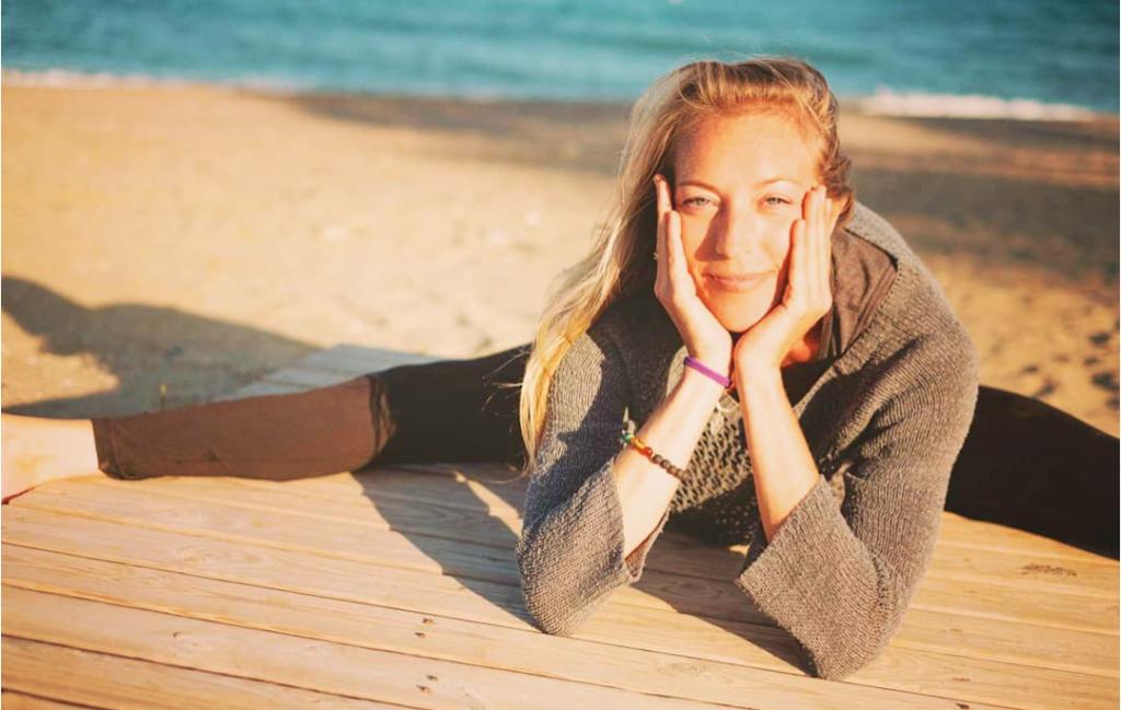 Upavistha Konasana - Seated Wide Legged Forward Fold yoga pose - Compassion for the Unhappy - Yoga Sutras