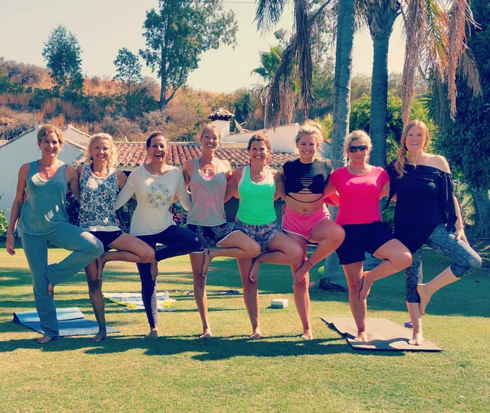 Yoga photos of Estepona Yoga Classes with Nirmala Yoga.
