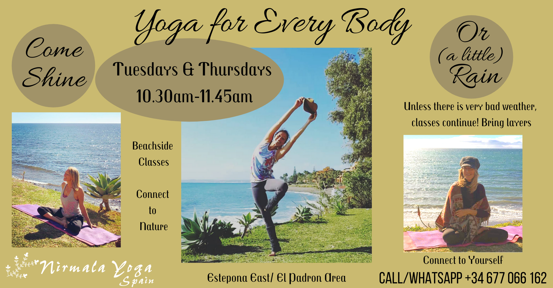 Tree Pose and other yoga photos from Estepona Yoga Classes with Nirmala Yoga. 2021